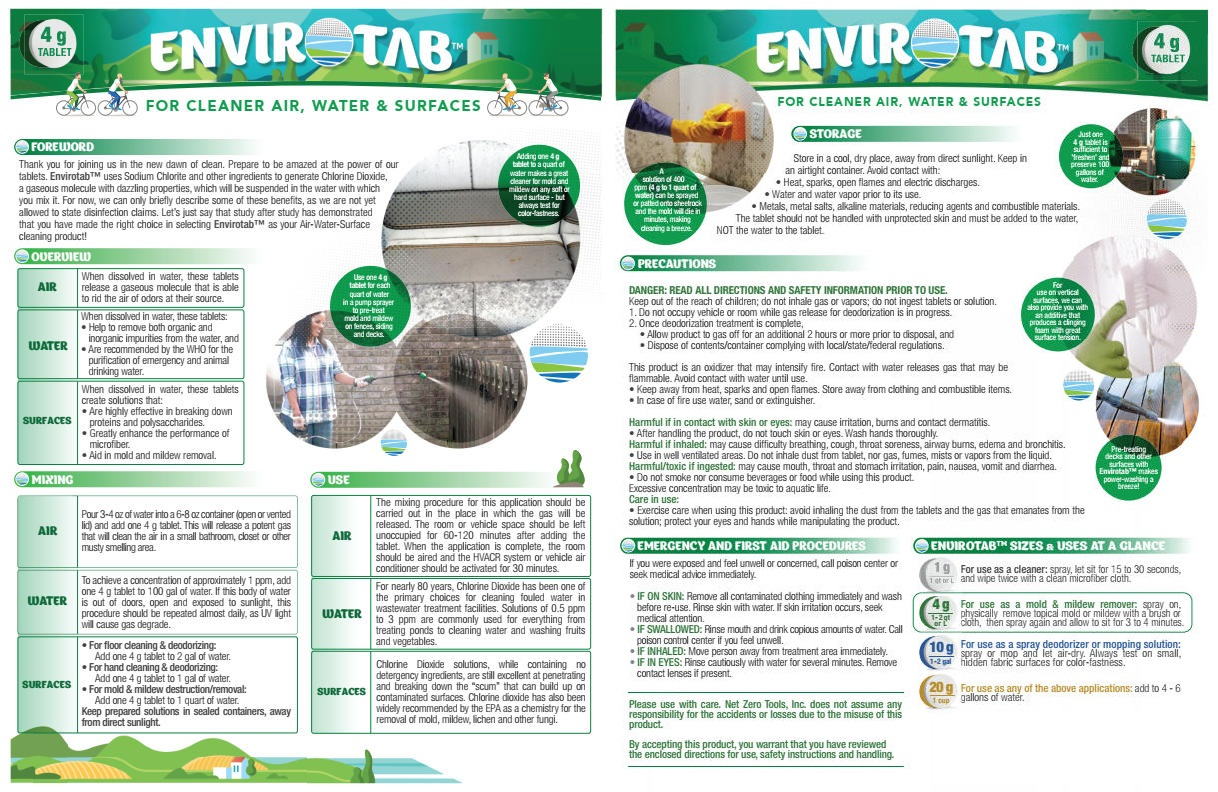 Envirotab for Cleaning, 4g Tablets x 100 Pieces