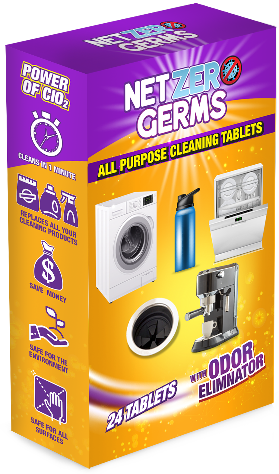 NetZero Germs All Purpose Cleaning Tablets, 24 Tablets